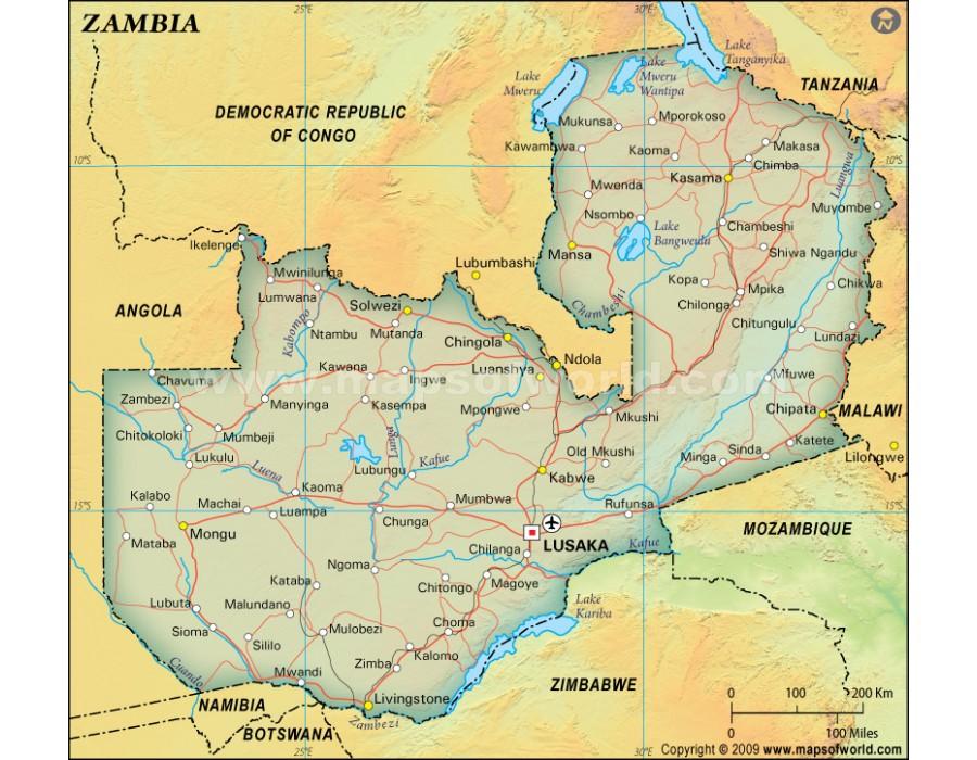 zambia political map - photo #5