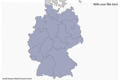 germany states and major cities flash map