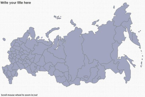 Russia States And Major Cities Flash Map