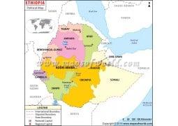 Political Map of Ethiopia - Digital File