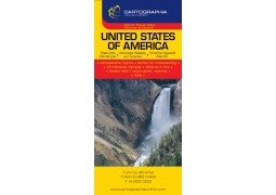 United States of America Travel Map by Cartographia