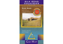 Central Asia Silk Road Countries Wall Map by Gizi Map