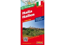 Country Map of Italy with Distoguide by Hallwag