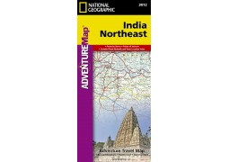 India, Northeast AdventureMap by National Geographic Maps