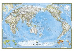 World, Pacific Centered : Classic, sleeved by National Geographic Maps