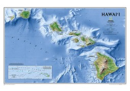 Hawaii Map, Sleeved by National Geographic Maps