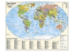 World, Kids, Political Education (Grades 4-12) by National Geographic Maps