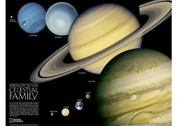 The Solar System 2-Sided Poster, sleeved by National Geographic Maps