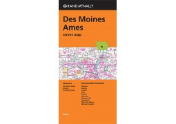 Des Moines and Ames Street Map by Rand McNally