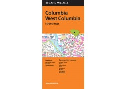 Columbia and West Columbia Street Map, South Carolina by Rand McNally
