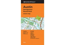 Austin, Georgetown and Round Rock Street Map Texas by Rand McNally