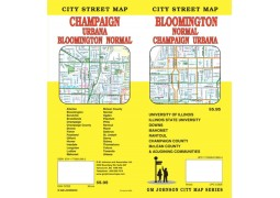 Bloomington, Normal, Champaign and Urbana City Street Map