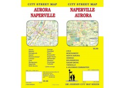 Naperville and Aurora City Street Map