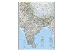 India, Classic, laminated by National Geographic Maps