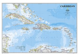 Caribbean Classic Map (laminated) by National Geographic Maps