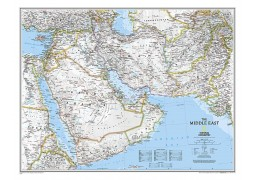 Middle East Map, Sleeved by National Geographic