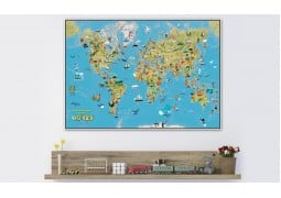 World, Kids Cartoon Map by Maps International Ltd.