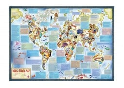 World, Trivia Map of the by Maps International Ltd.