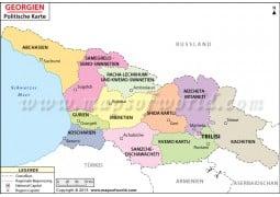 Georgian Politische Karte (Georgia Political Map)