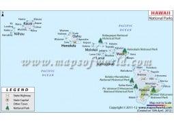 Hawaii National Parks Map - Digital File