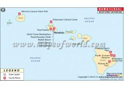 Hawaii Travel Map - Digital File