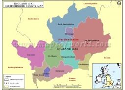 Hertfordshire Map