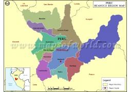 Map of Huanuco Region - Digital File