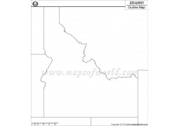 Idaho Outline Map - Digital File