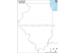 Blank Map of Illinois - Digital File