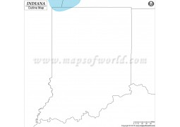 Blank Map of Indiana - Digital File