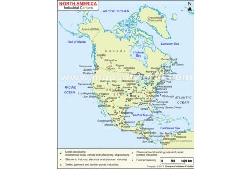 Australia Industrial Centers Map