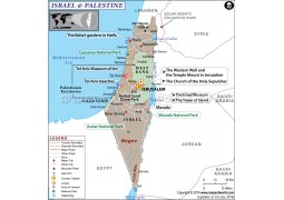 Map of Israel and Palestine - Digital File