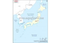 Japan Blank Map - Digital File