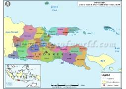 Jawa Timur Map - Digital File