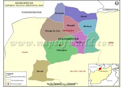 Jawzjan Provinces Map - Digital File
