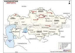KazakhstanAirports Map - Digital File