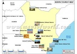 Kenya Travel Map - Digital File