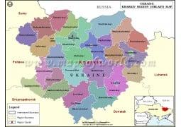 Kharkiv Region Map - Digital File