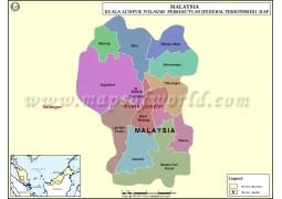 Kuala Lumpur State Map - Digital File