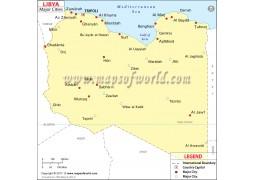 Libya Cities Map - Digital File