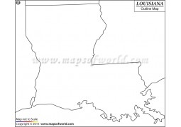 Blank Map of Louisiana - Digital File