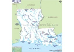 Louisiana River Map - Digital File