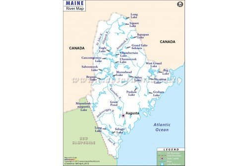 Maine River Map