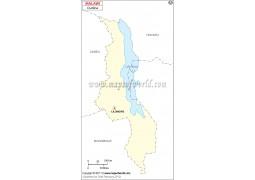 Blank Map of Malawi - Digital File