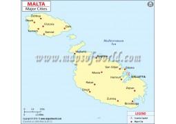 Malta Cities Map