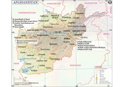 Afghanistan Map - Digital File
