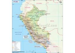 Peru Map - Digital File