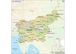 Slovenia Map - Digital File