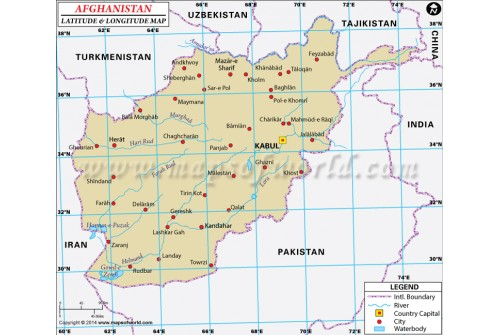 Buy Afghanistan Latitude And Longitude Map - Argentina map latitude