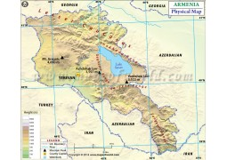 Armenia Physical Map - Digital File